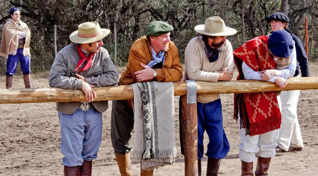 Local culture in Argentina is a beautiful sight with gauchos wearing ponchos.